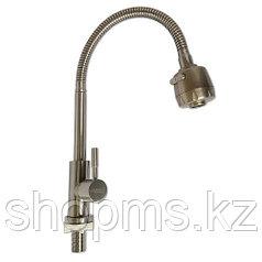 Смеситель MAGNUS 9213 Кухня на одну воду гибкий излив н/ж