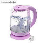 Чайник электрический Kitfort KT-640-2, стекло, 1.7 л, 2200 Вт, подсветка, розовый