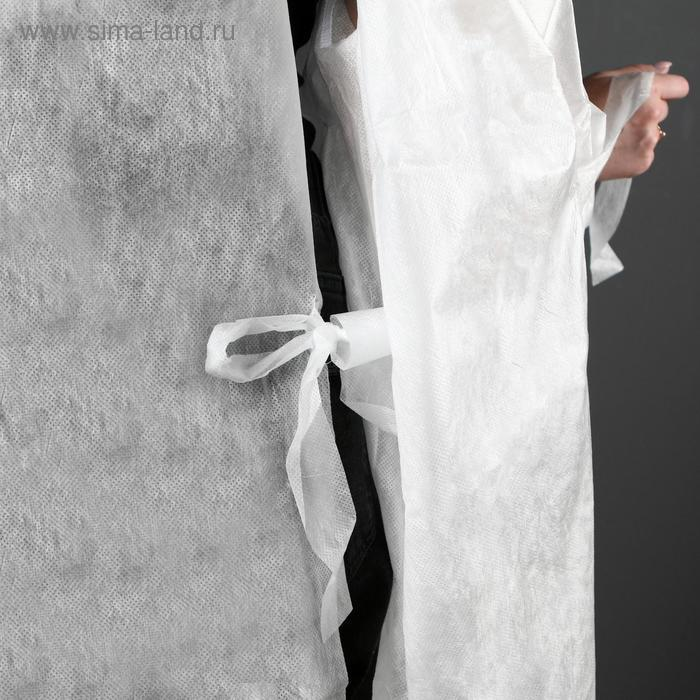 Халат хирургический на завязках, манжета на резинке 25 г/м2, размер 50-54, длина 140 см - фото 4