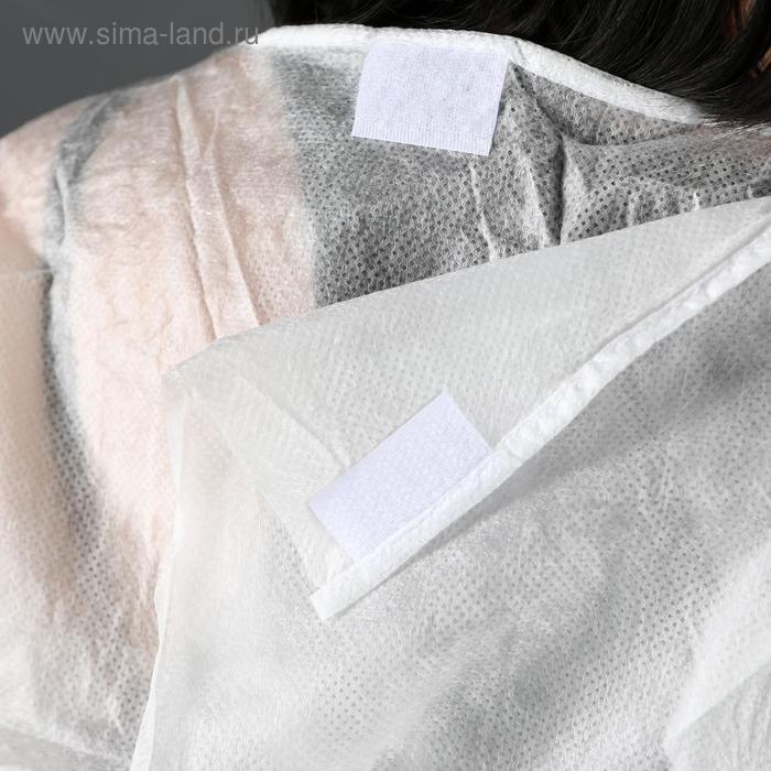 Халат хирургический на завязках, манжета на резинке 25 г/м2, размер 50-54, длина 140 см - фото 5
