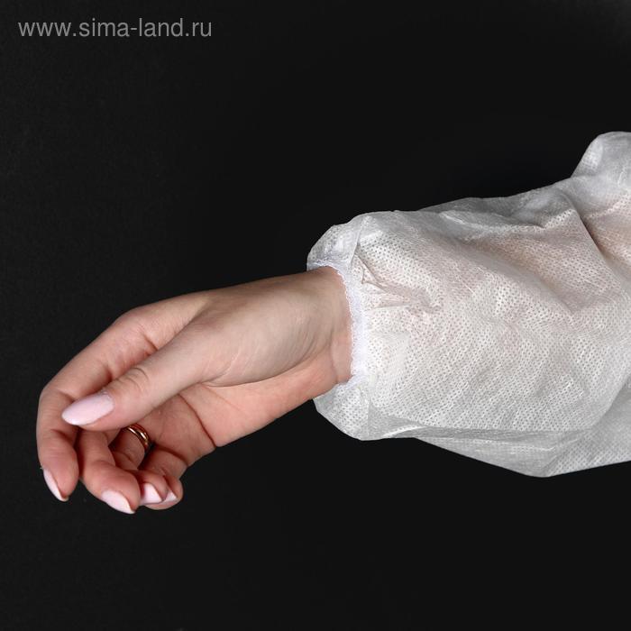 Халат хирургический на завязках, манжета на резинке 25 г/м2, размер 50-54, длина 140 см - фото 6