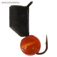 Мормышка вольфрам «кошачий глаз» 1,5 г, гвоздик d4 красный