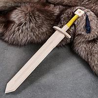 """Сувенирное оружие """"Меч рыцаря"""", деревянное, 46 см, массив бука"""