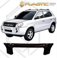 Мухобойка (дефлектор капота) для Hyundai Tucson 2005-2009 (арт. 2010010102135)