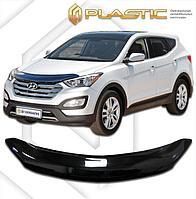 Мухобойка (дефлектор капота) для Hyundai Grand Santa Fe 2014+ (арт. 2010010110390)