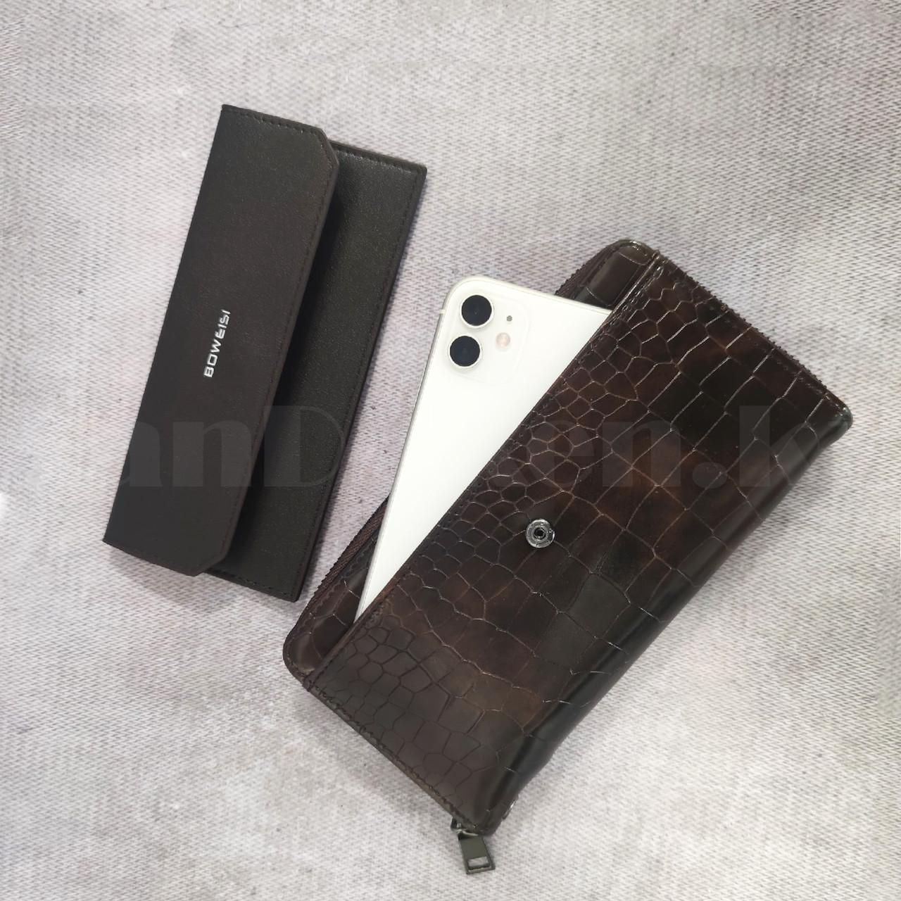 Портмоне со съемной визитницей кошелек кожаный темно-коричневый 341 - фото 6