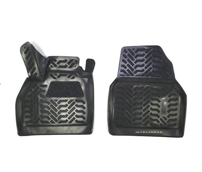 Коврики в салон Renault Kangoo II Fourgon (2008-2021) 3D сподпятником (передние)