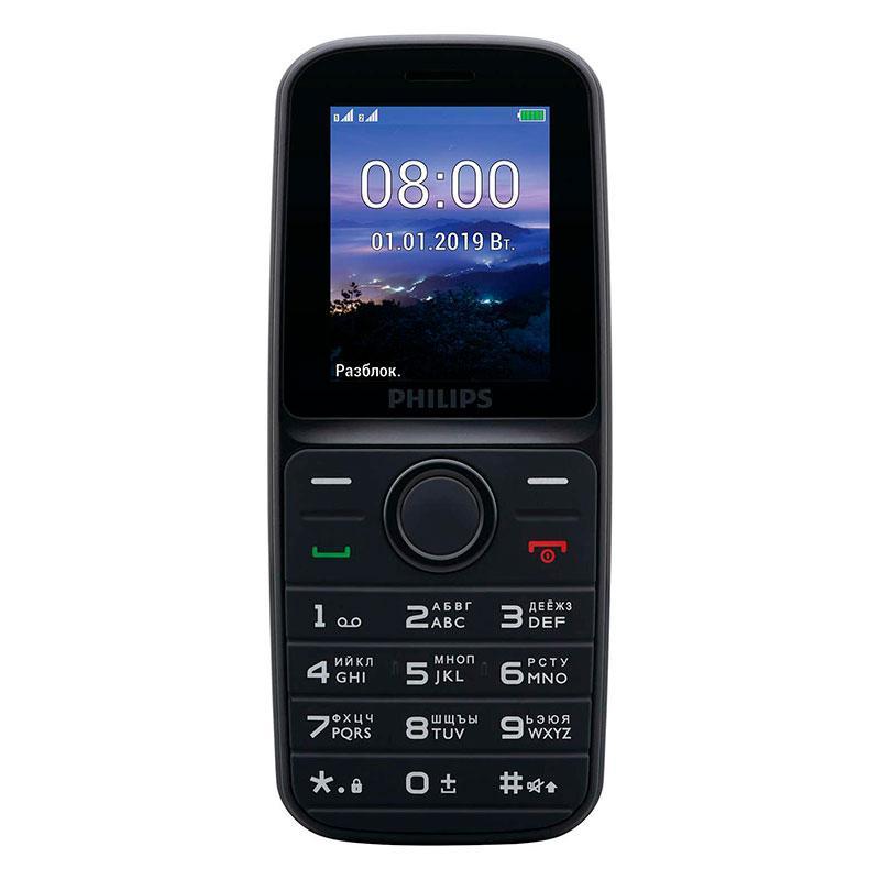 Мобильный телефон Philips E109 черный