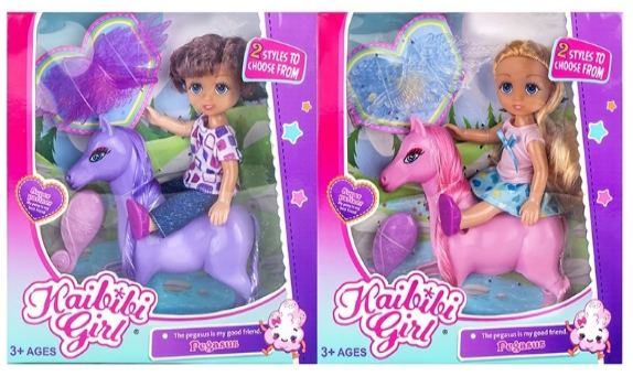 Кукла Kaibibi Girl с лошадкой (ВЛД237*)