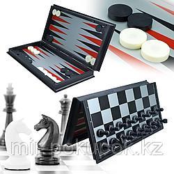 Игра Chess set 3in1 (Шахматы, шашки, нарды магнитные), Алматы