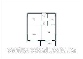 1 комнатная квартира в ЖК Айсафи 41.1 м²