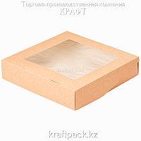 (Eco Tabox PRO 1500) Коробка с окном 200*200*40 DoEco (25/125)