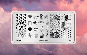 Пластина для стемпинга Go Stamp 05 Romantic mood