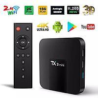 Андроид Смарт ТВ приставка smart tv box -TX3 mini (S905W) 2|16gb, фото 1