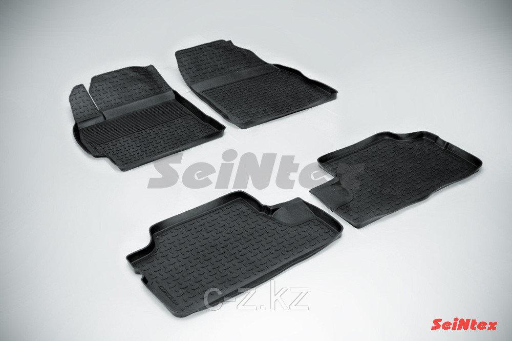 Резиновые коврики с высоким бортом для Toyota Corolla X (2007-2013)