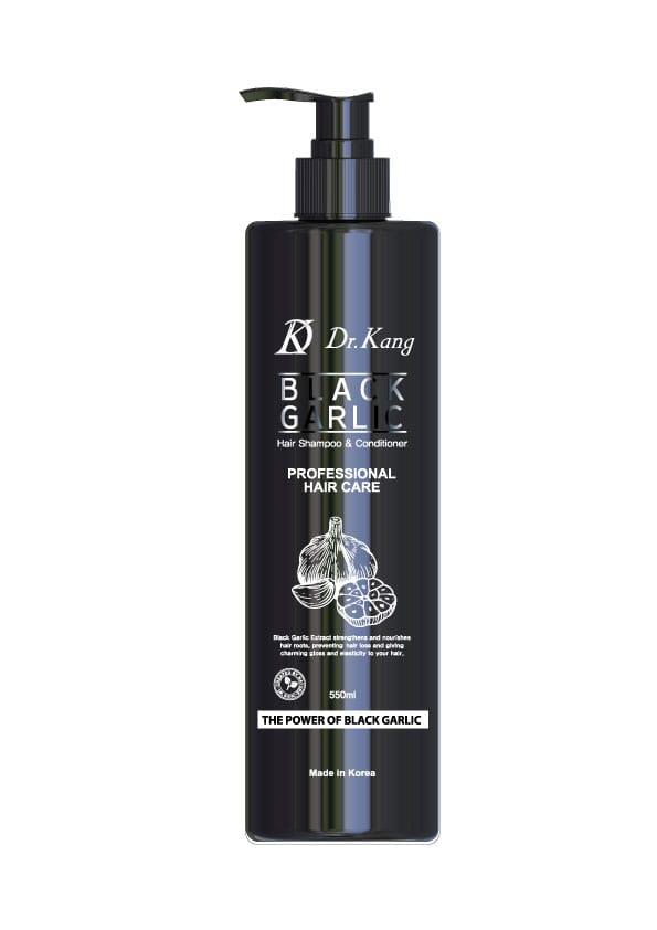 Dr.Kang Шампунь и Кондиционер 2 в 1 с черным чесноком Black Garlic Professional Hair Care / 550 мл.