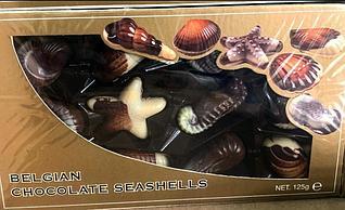 "Молочный бельгийский шоколад ""Ракушки"" Belgian chocolate seashells 125гр"