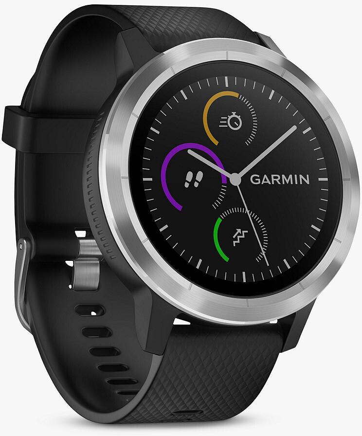 Спортивные часы Garmin Vivoactive 3, цвет черный, серебристый