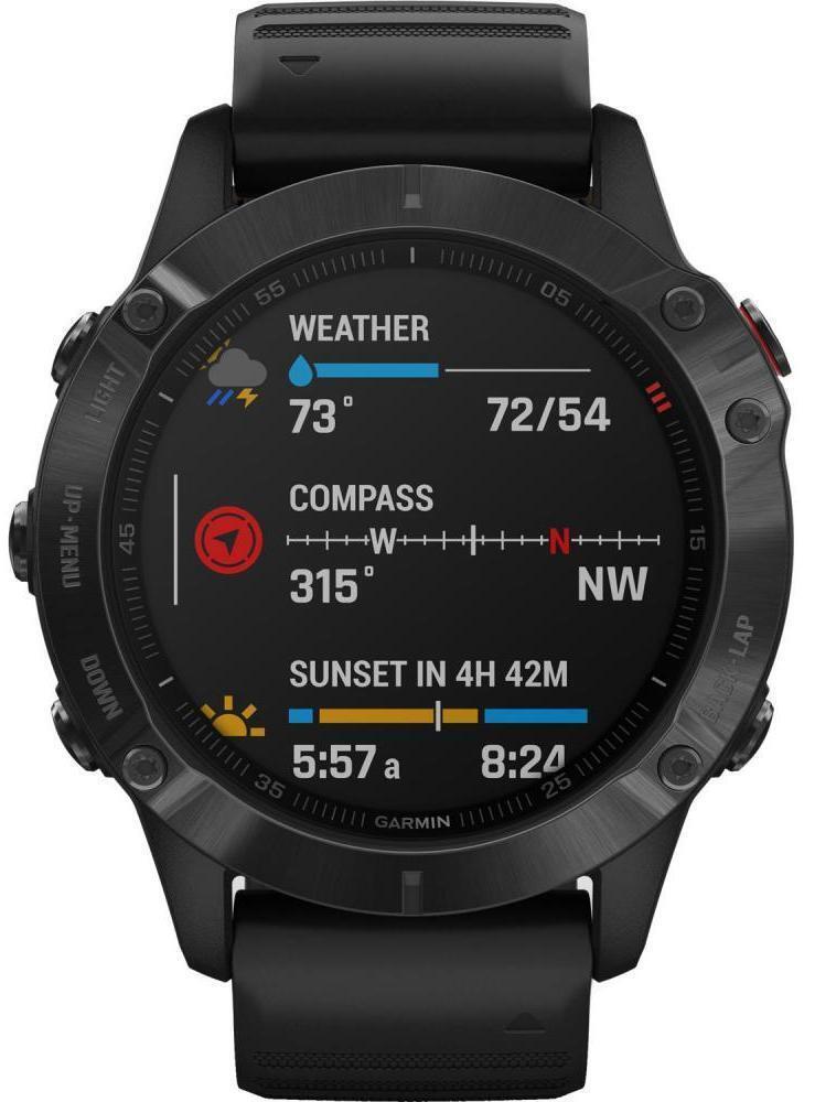 Спортивные часы Garmin Fenix 6 Pro, цвет черный