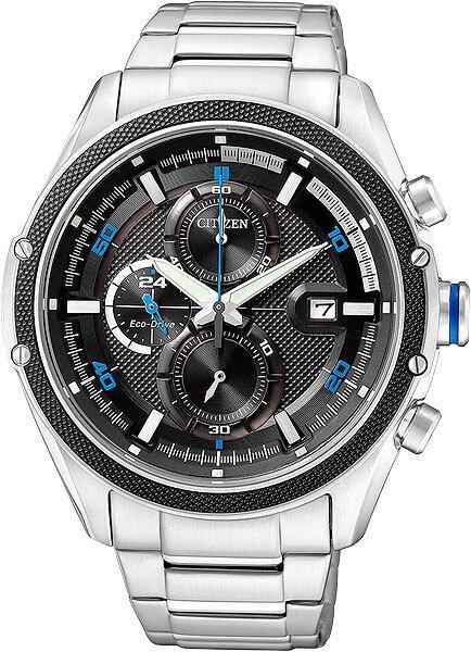 Спортивные часы Citizen CA0120-51F, цвет серебристый