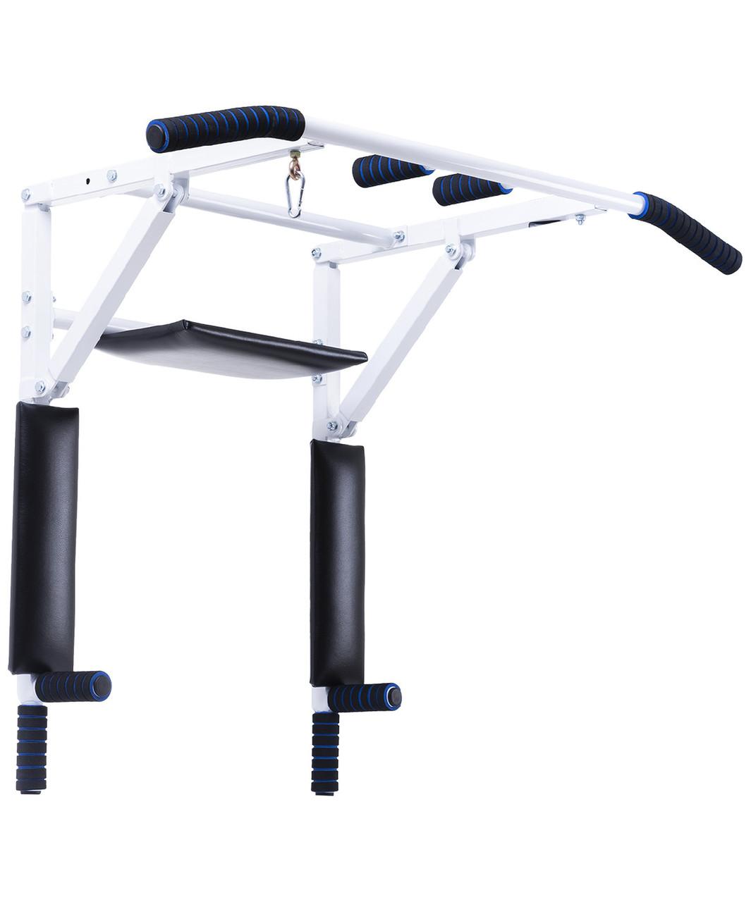 Турник-брусья настенный 3 в 1 Workout, складной d 28 мм, ширина 115 см, вынос 56 см BASEFIT