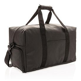 Спортивная сумка из гладкого полиуретана, черная