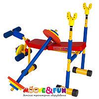 Детская скамья для жима со штангой Moove&Fun
