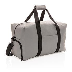 Спортивная сумка из гладкого полиуретана, серая