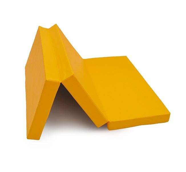 Мат № 4 (100 х 150 х 10) складной КМС жёлтый