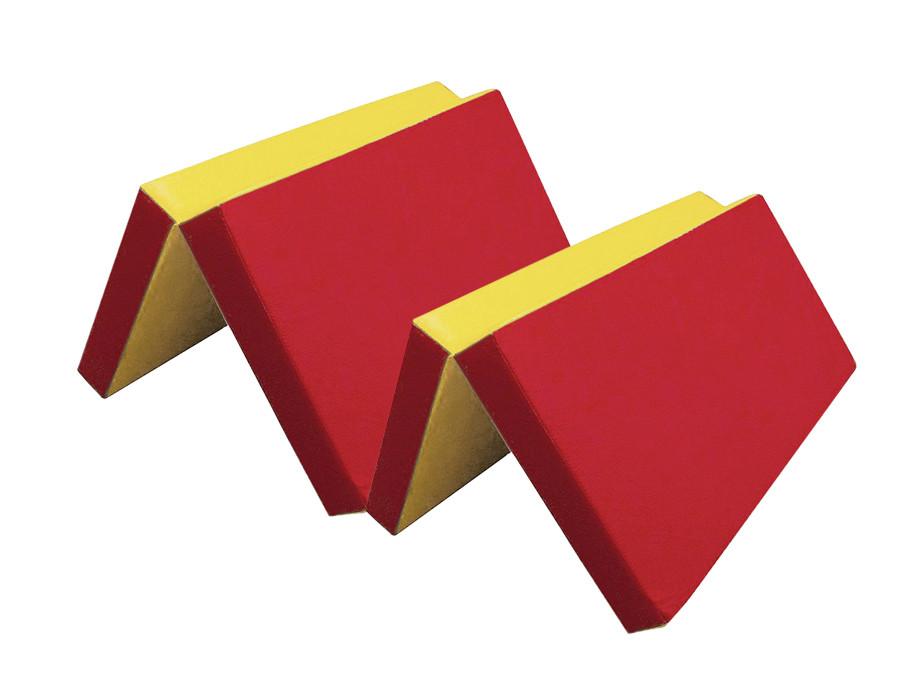 Мат №7 (200 х 100 х 10) складной красный/желтый