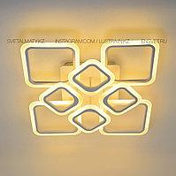 Люстра светодиодная с ПДУ, LED 176Вт диммер 3 режима 3600-6500К белый, фото 1