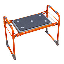 Скамейка-перевертыш складная Ника СКМ2/О (модель 2) мягкая, оранжевый каркас