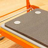 Скамейка-перевертыш складная Ника СКМ2/О (модель 2) мягкая, оранжевый каркас, фото 2