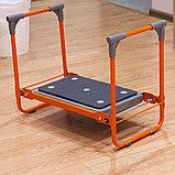 Скамейка-перевертыш складная Ника СКМ2/О (модель 2) мягкая, оранжевый каркас, фото 3
