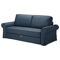 Диван-кровать 3-мест. БАККАБРУ Идекулла синий ИКЕА, IKEA