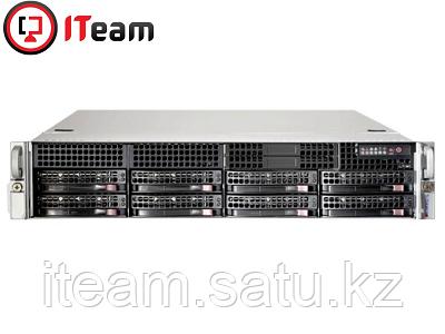 Сервер Supermicro 2U/1xSilver 4208 2,1GHz/64Gb/2x2480Gb SSD/4x2Tb