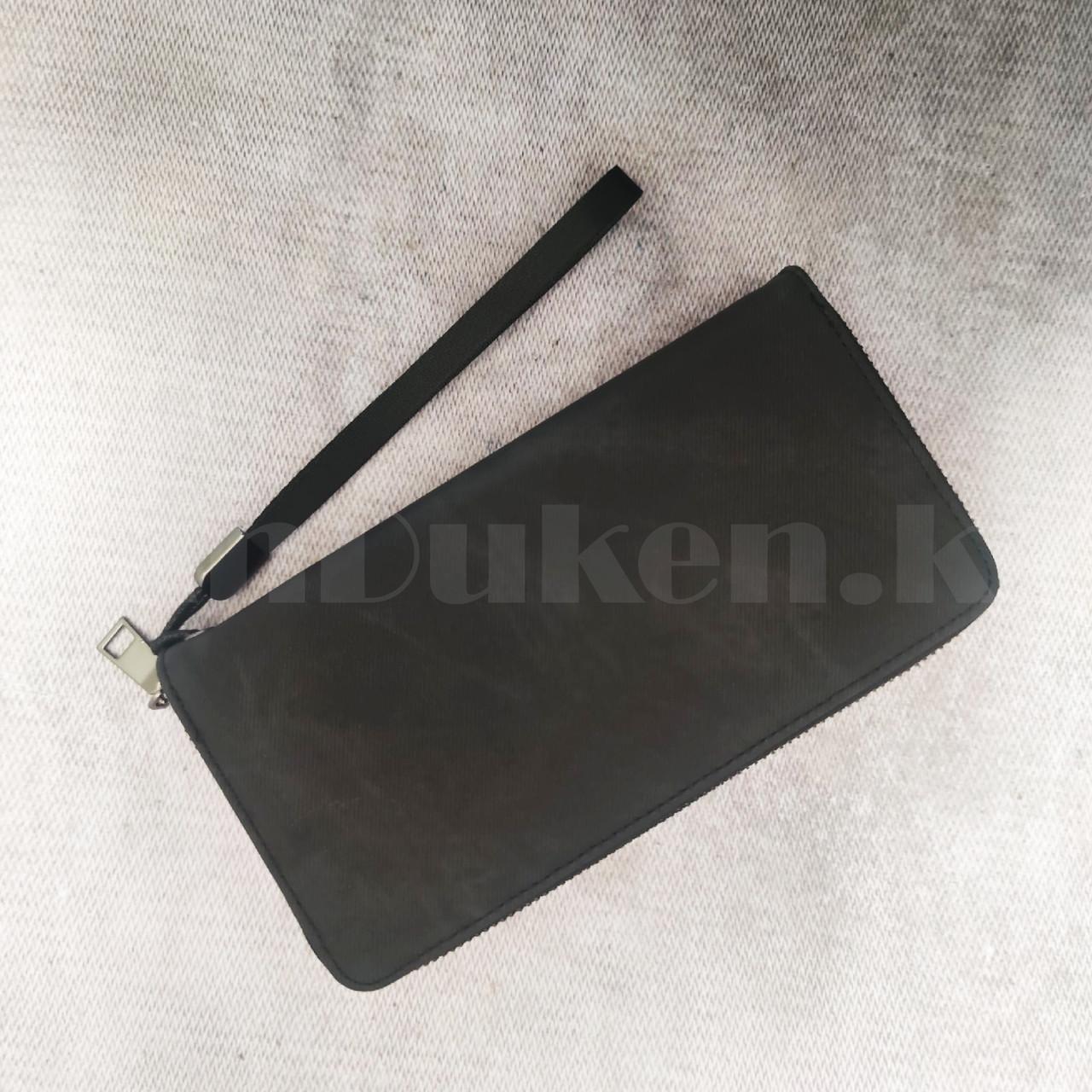 Портмоне визитница кошелек черный клатч 335 - фото 7