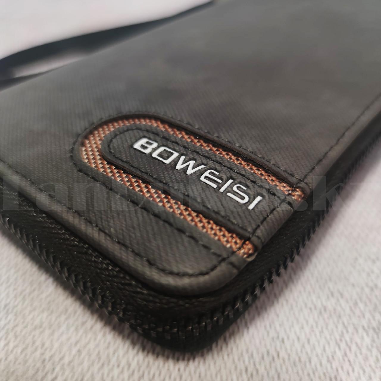 Портмоне визитница кошелек черный клатч 335 - фото 4