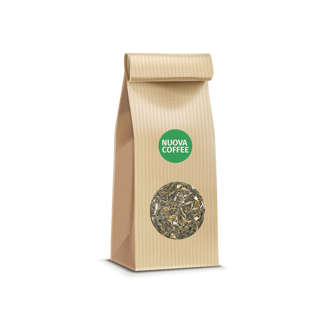 Зеленый ароматизированный чай лайм и женьшень