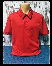 """Футболка Поло, 38(4XS) """"Unisex"""" цвет: Красный"""