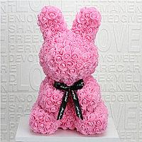 3D Зайчик из роз Розовый