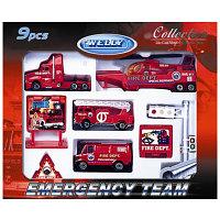 """WELLY Игровой набор """"Служба спасения - пожарная команда """" 9 шт. -"""