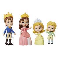 Disney Princess Набор 4 куклы Дисней Принцесса Семья 7,5 см -