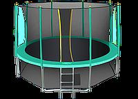 Батут Hasttings Classic Green 15ft (4,6 м) с защитной сетью и лестницей, фото 1