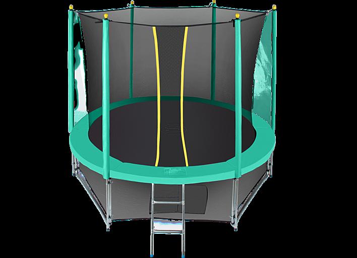 Батут Hasttings Classic Green 8ft (2,44 м) с защитной сетью и лестницей