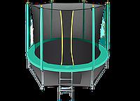 Батут Hasttings Classic Green 8ft (2,44 м) с защитной сетью и лестницей, фото 1