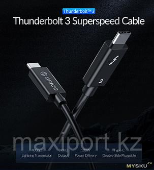Кабель ORICO Thunderbolt 3 (USB TypeC 40 Гбит/с, 8K HD 5A 100 Вт), фото 2