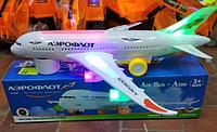 Музыкальный светящийся самолет на батарейке