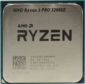 Процессор AMD Ryzen 3 PRO 3200GE 3,3ГГц (3,8ГГц Turbo)
