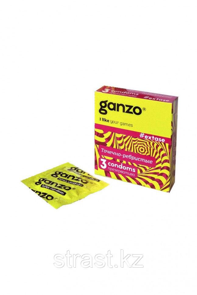 Презервативы точечно-ребристые GANZO Extase (уп.12 шт, цена за штуку)